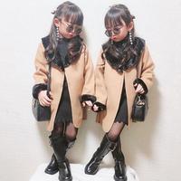 ファー襟コート