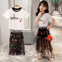 Tシャツ+チュールスカートSET