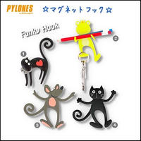 【PYLONES】★【PYLONES】ピローヌ  マグネット フック カエル  黒ネコ