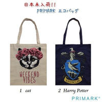NEW☆日本未入荷 【PRIMARK プライマーク】エコバッグ  cat、Harry  Potter