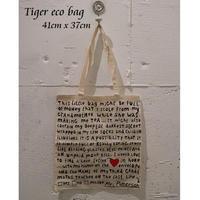 輸入雑貨【TIGER】エコバッグ フライングタイガーコペンハーゲン 英文