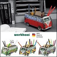 ドイツ WERKHAUS ペンスタンド ワーゲンバス カラフル3柄