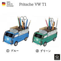 NEW☆ドイツ 【WERKHAUS(ヴェルクハウス)】組み立て式 ペンスタンド   ビートル トラック ブルー グリーン