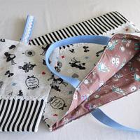 バッグ&うわばき袋セット女の子用・アリス・生成り