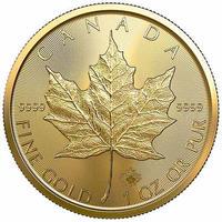 【送料無料】金貨 メイプルリーフ カナディアンゴールドコイン 2021 1トロイオンス(約31.1g)