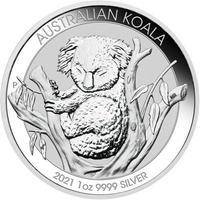 【限定品】オーストラリアンシルバー コアラコイン(BU)2021年  1オンス(31.1g)