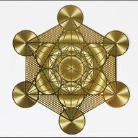 古代の叡智・尊聖なる波動を秘めた高次元エネルギーを貴方に…!地球上にある全ての生命体のパターンから内なるエネルギーを呼び起こす!【「神聖幾何学☆ゴールデンパワーシンボルカード メタトロンキューブ】浄化