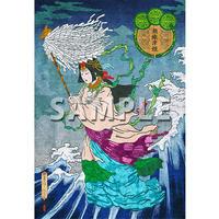 今こそ日本の神々が立ち上がる時…!【全て祈願をしてお届け致します…☆彡】MIRIAMショップでも大人気…! 各種神様の種類あり☆彡 【「日本の神様ポストカード」「瀬織津姫」(セオリツヒメ)】