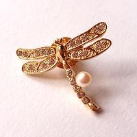 ワンランク上の洗練されたデザインを貴方にも…!貴方の中に眠る優しさと女性らしさ母性を引き出す開運ブローチ☆「MIRIAM 開運エレガントパールブローチ」~「dragonfly」B~