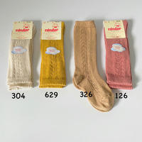 【2592/2】BABY SIDE OPENWORK KNEE-HIGH SOCKS 0-2