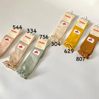 【2409/2】KNEE SOCKS WITH LACE EDING CUFF size0-2