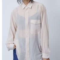 SILK OVER SHIRTS(PINKBEIGE)