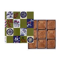 瓦せんべい【小 瓦】紙箱63枚入り(3枚包 X 9・4枚包 X 9)