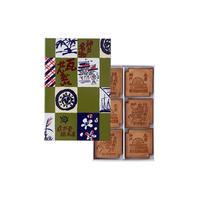 瓦せんべい【小 瓦】紙箱18枚入り(3枚包 X6)