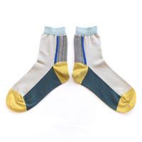 Leaf line socks/イエロー