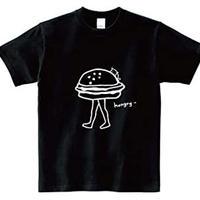 ハンバーガー Tシャツ【ブラック】