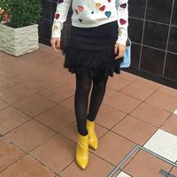 フェザーペプラムスカート