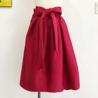 stripe volume skirt