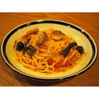 ★craft pasta★サバとほうれん草とオリーブのガーリックトマトソース3袋 と もちもち生パスタ3袋