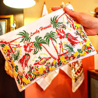 """RED and WHITE Kitchen Company"" Map Pouch[HAWAII]"