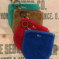 """""""BUTTON WORKS"""" SUEDE SMALL POUCH"""