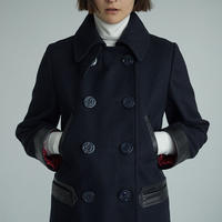 """RUMBLE RED"" Pea Coat"