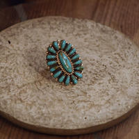 """NAVAJO"" Cluster Turquoise Ring"