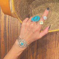 """""""ZUNI"""" Flower Ring"""