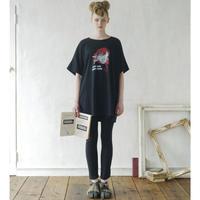 bedsidedrama REDHOOD GIRL BIGポケットTシャツ ブラック