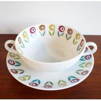 Upsala-Ekeby Bellis スープカップ&ソーサー UE-002