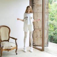 bedsidedrama キメラ刺繍Tシャツ
