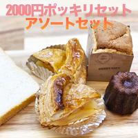 【2000ポッキリ 送料無料】アップルパイ カット 2個 カヌレっこ 1個 食パン 1枚 紅茶シフォンキューブ 1個