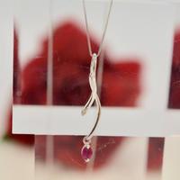 K18WGルビー/ダイヤモンド ネックレス