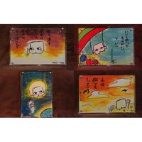 【櫻井里花】ちんり絵葉書 2枚セット(本人手書き作品)メッセージカード付き!