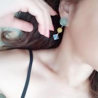 天然石のボリュームイヤリング/ピアス