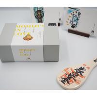 【お歳暮】もみじの出逢いギフトボックス  +祈願杓子(家内安全)+博多屋正月記念ハガキセット