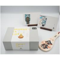 【お歳暮】もみじの出逢いギフトボックス  +祈願杓子(合格)+博多屋正月記念ハガキセット