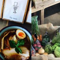 【12月4週目発送】(冷蔵) 宮崎県産季節のお野菜10品と無添加煮干し醤油かけそばのセット