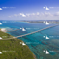 宮古島空撮 前浜ビーチ 来間大橋