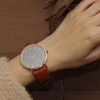 ~2サイズ~シンプル 腕時計 メンズ レディース 兼用 オレンジ