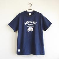 神戸市消防局コラボおとなTシャツ ブルー (救急車)