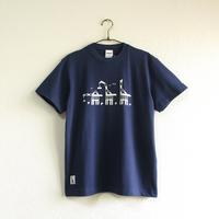 おとなTシャツ ブルー(三匹のウミキリン)