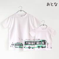 神戸市交通局コラボ おとなTシャツ ホワイト(神戸市バス)