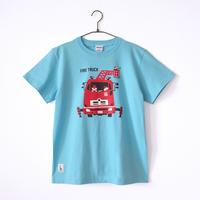 神戸市消防局コラボおとなTシャツ アクアブルー (はしご車  前)