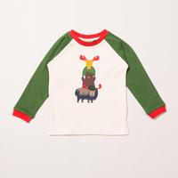 Little Green Radicals ノルディックアニマル ラグランTシャツ 92/ 98/ 104/ 110/ 116/ 122/ 128cm