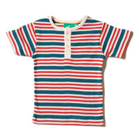 Little Green Radicals 「海の」ストライプ リブ 半袖Tシャツ 92/ 98/ 104/ 110/ 116/ 122/ 128cm