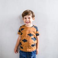 A Raposa E O Elefante Tシャツ『空』 Teracotta ※残り4-5y(104-108cm)のみ