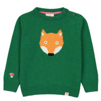 Tootsa FOX Jaquard Knit Green カシミア×ウール 92/ 98/ 104cm