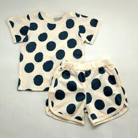 Taped Dot Pajama Blue 80~100cm ※残り100㎝のみ