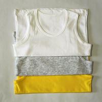 コットン肌着 3枚セットYellow, Grey & White 90cm/ 100cm/ 110cm